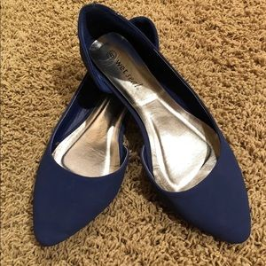 Wet Seal Blue Flats